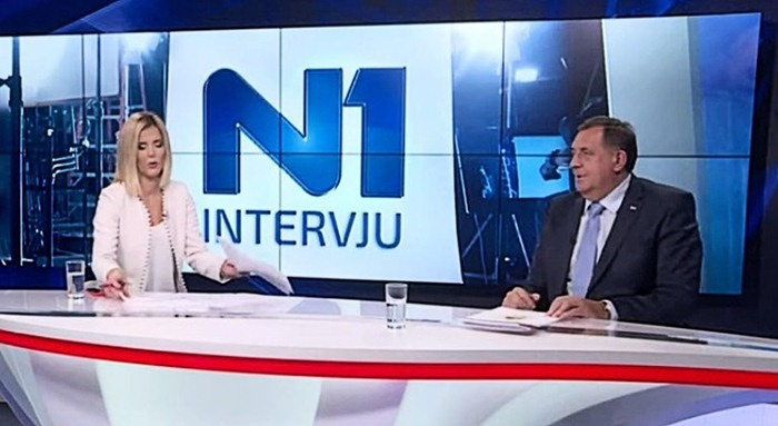Prekinuta emisija N1, Dodik na sva pitanja odgovarao istom rečenicomv  (Video) | Trebinje Live