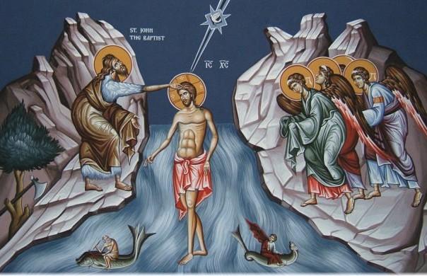 krstenje isusa hrista