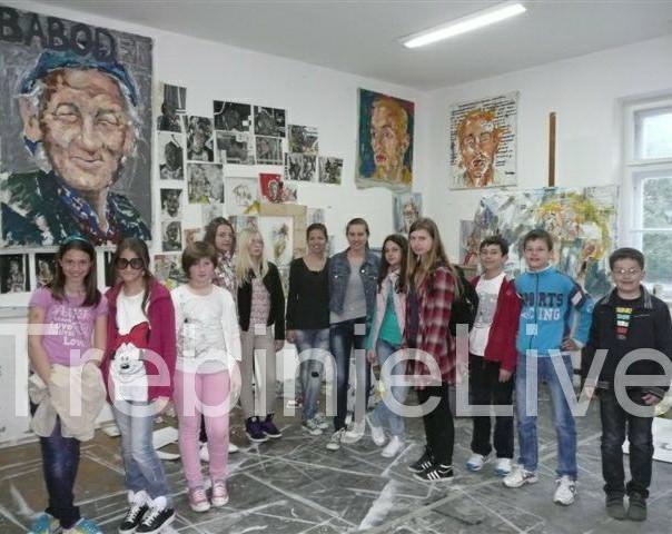clanovi djecije likovne radionice cerovac u posjeti akademiji likovnih umjetnosti
