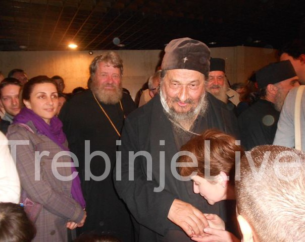 vladika Atanasije na tribini u Herceg Novom