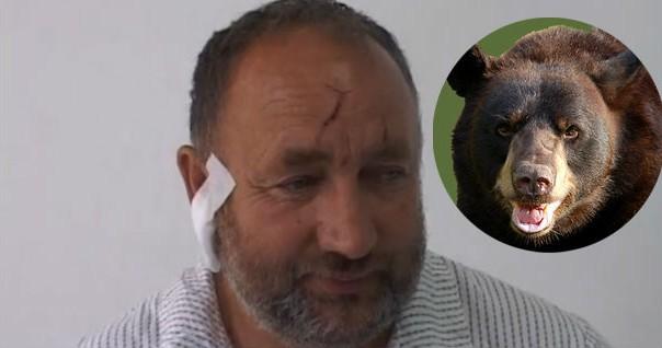 Blazo Grkovic i medvjed