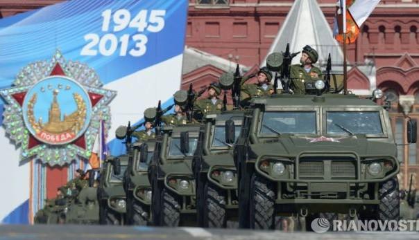 vojna parada na crvenom trgu u moskvi