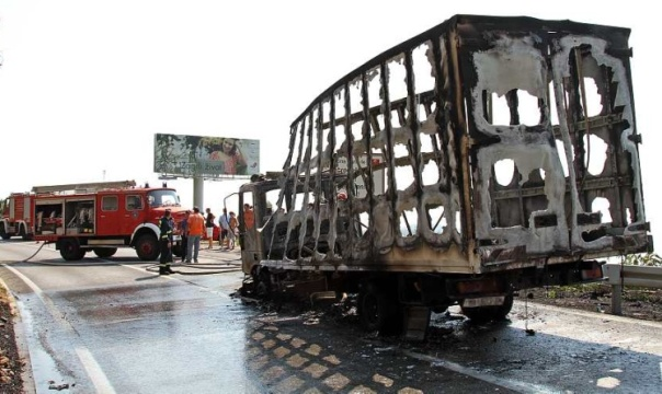 izgorio kamion dubrovnik