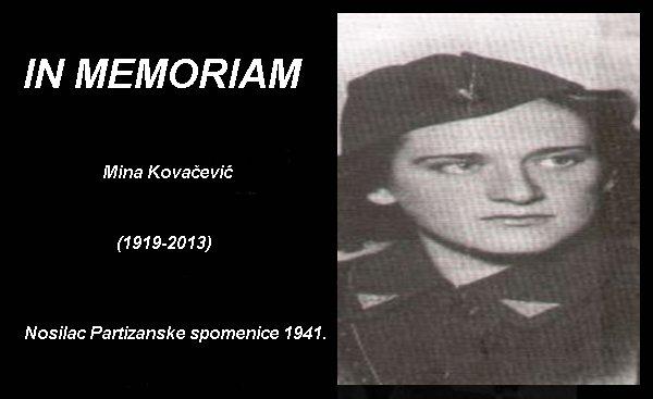 In Memoriam mina kovacevic