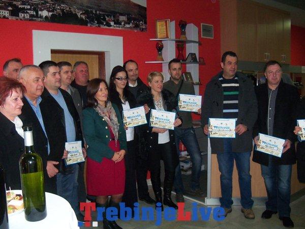 priznanja za ugostitelje, hotelijere i vinare turisticka organizacija grada trebinja
