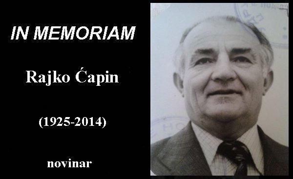 In Memoriam rajko capin novinar herceg novi