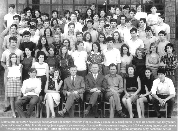 generacija maturanata 1968 1969 gimnazija jovan ducic trebinje