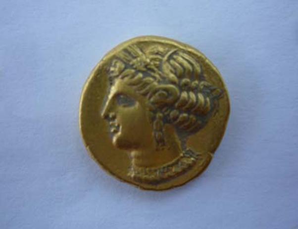 zlatni novcic kartagina kumbor herceg novi