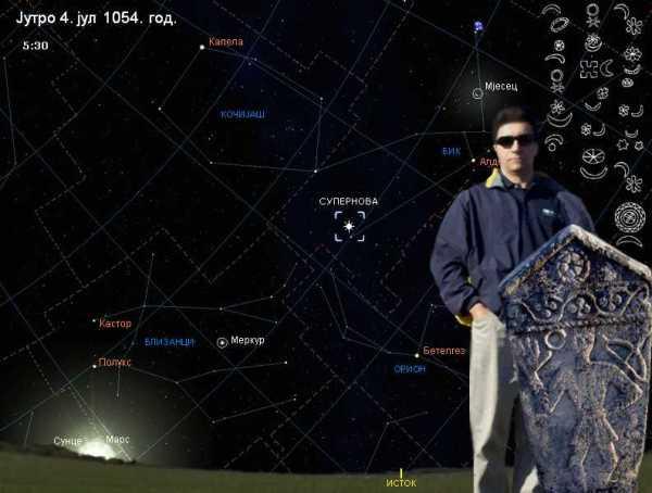 sl2. Polozaj Supernove 1054-autor