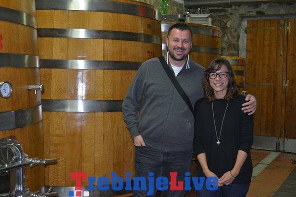 Radovan Vukoje u vinariji ORNELLAIA, BOLGHERI sa generalnim menadžerom i agronomom TENUTA ORNELLAIA Leonardom Raspinijem