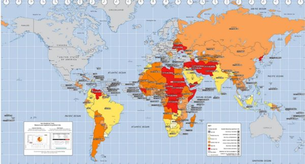 mapa geopolitickog rizika