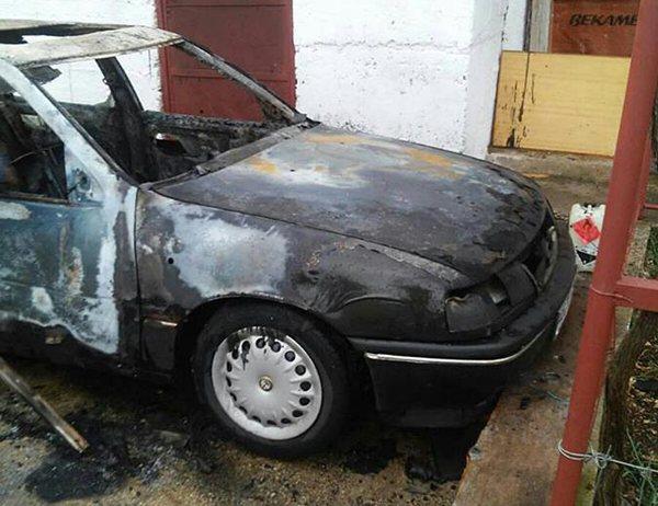 izgorio automobil cicevo