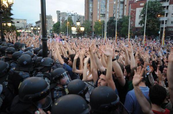 Makedonija protesti skoplje