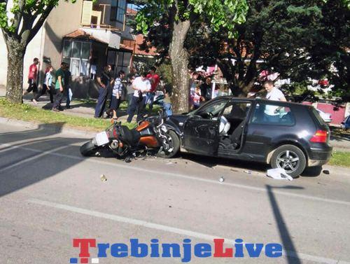 motociklista udario u golfa trebinje