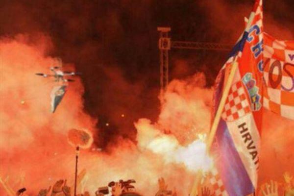 Dron srpska zastava koncert tomson