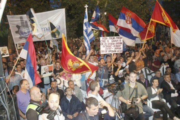 protesti opozicije podgorica crna gora
