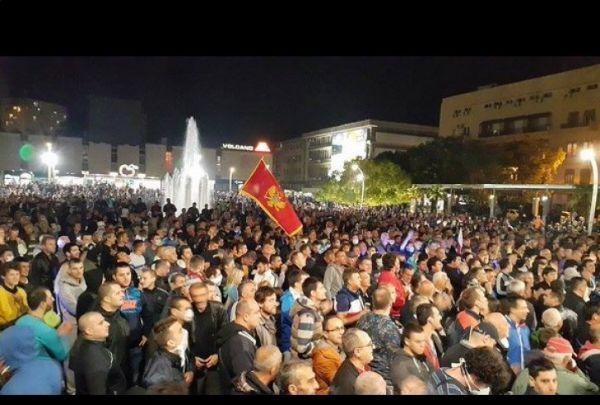 Protest opozicije u podgorici