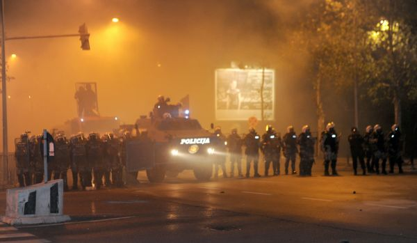 Sukob policije i gradjana u podgorici