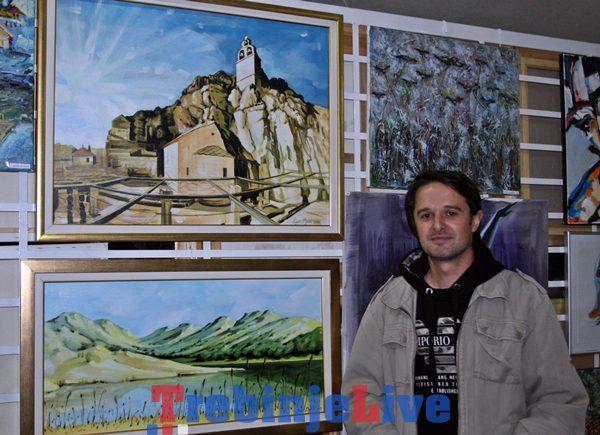 izlozba udruzenja likovnih umjetnika istocne hercegovine u galeriji bokic