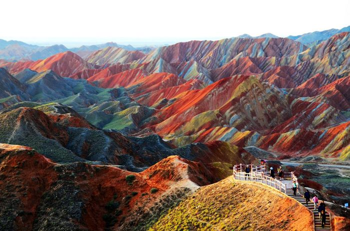 Zhangye Danxia geoloski park kina