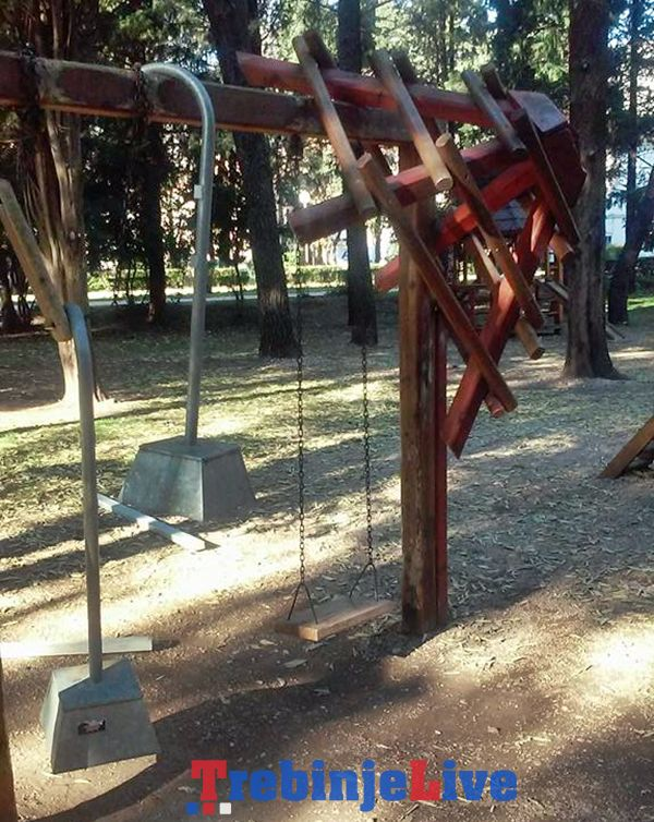 vandalizam trebinje gradski park