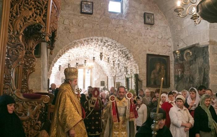 liturgija jerusalim srpski manastir