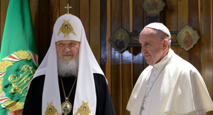 Papa franja i patrijarh kiril