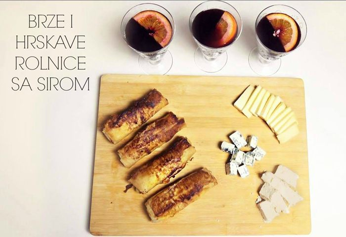 olnice sa sirom i kuvano vino