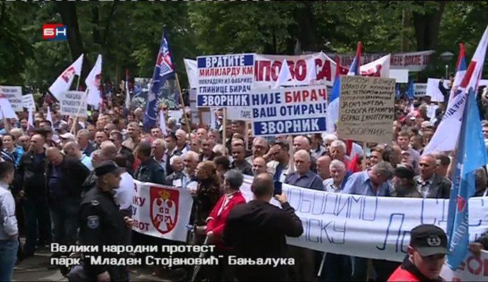 protest opozicija banjaluka