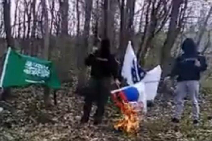 Islamisti pale srpsku zastavu