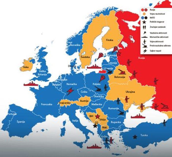 rusija mapa evrope NATO I RUSIJA TRESU EVROPU   Ko je aktivniji na starom kontinentu  rusija mapa evrope
