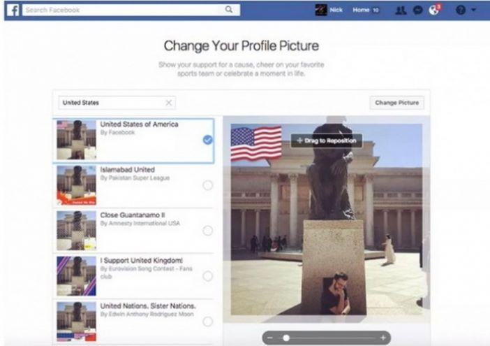 facebook zastava profilna slika