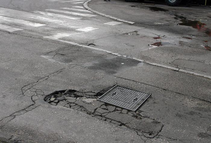 udarne rupe na putevima trebinje