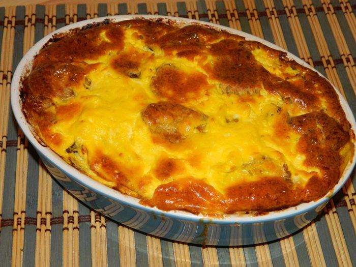 zapeceni krompir sa sirom i mesom