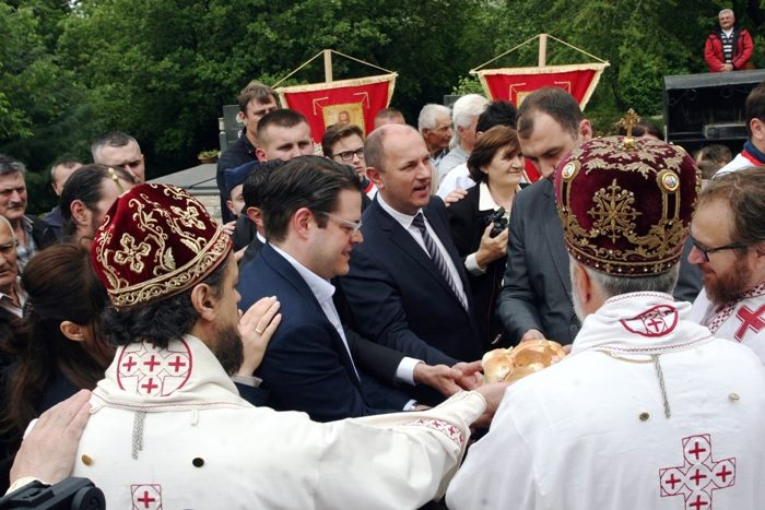 Tokom liturgije presječen je i slavski kolač. Liturgiji je prisustvovao i gradonačelnik Trebinja Luka Petrović.