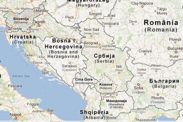 granice srbije karta Gugl
