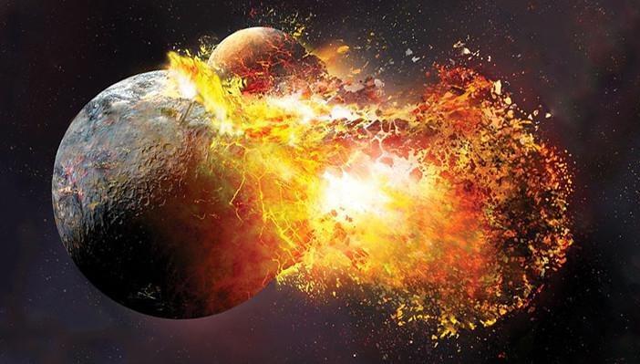 nastanak mjeseca sudar zemlje i teje