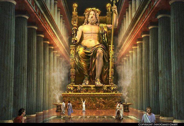 statua boga zevsa